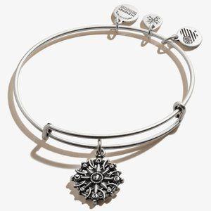 Alex & Ani Silver Compass Bracelet